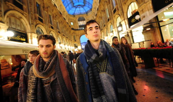 Models display creations in the Vittorio