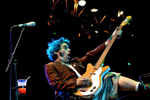 US band NOFX performs on July 2, 2010, a