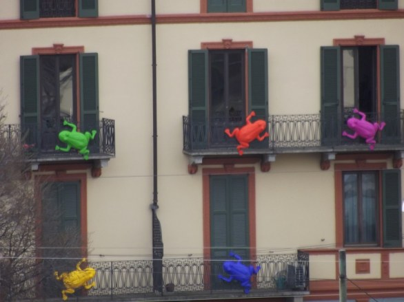 Rane colorate in giro per Milano