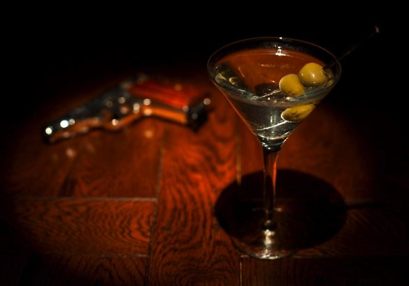 Dry Martini picture with a twist