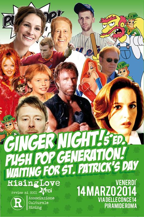 PUSH POP!generation GINGER NIGHT waiting for St Patrick's day