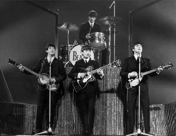 The Beatles  on stage at the London Palladium, 1963