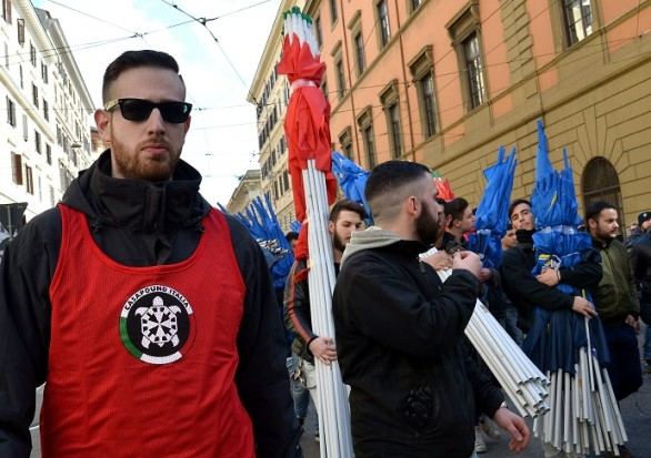 ITALY-PROTESTS-SALVINI