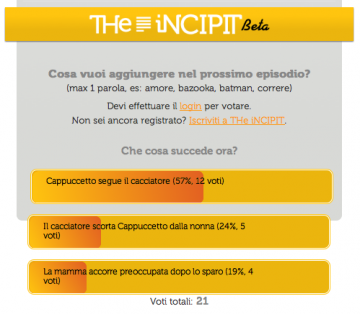 the incipit, riscritture web, social network e letteratura