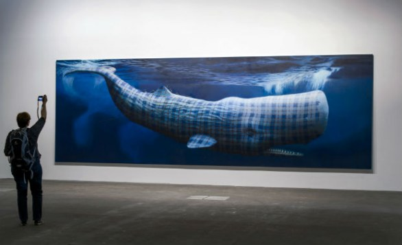 Moby Dick | compleanno | gran classico | Herman Melville, Sean Landers Art Basel, photo by FABRICE COFFRINI/AFP/Getty Images