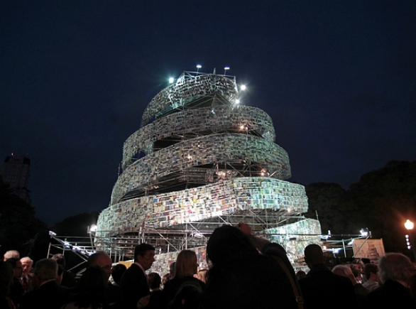 Tower Made from Thousands of Books, Buenos Aires, AP/Natacha Pisarenko