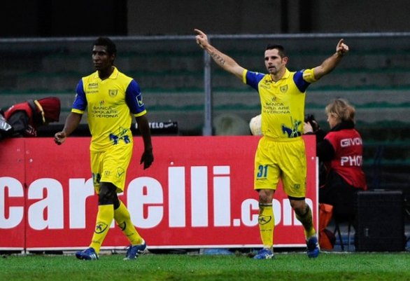 chievo - inter 2-1