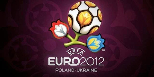 La foto del logo ed il simbolo di euro 2012