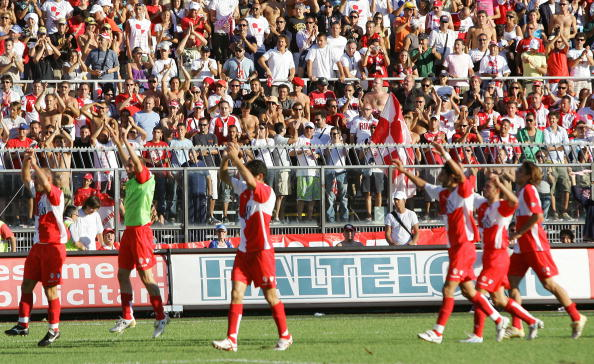 Rimini' supporters celebrates after thei