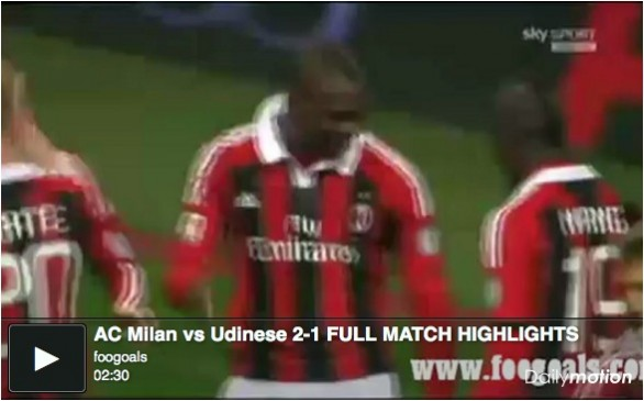 milan udinese highlights balotelli ac - photo#30