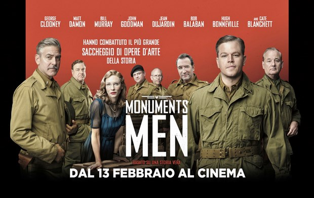Monuments Men featurette in italiano e 5 clip del film di George Clooney
