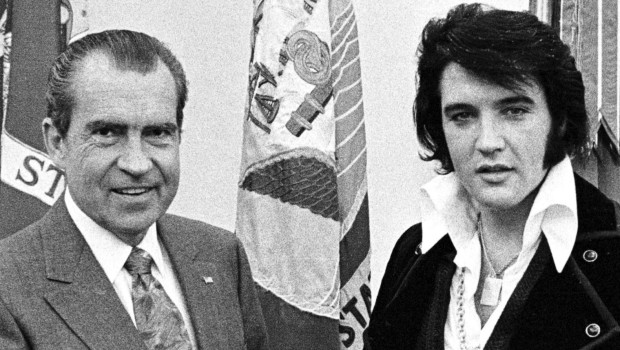 President Richard Nixon meets with Elvis Presley