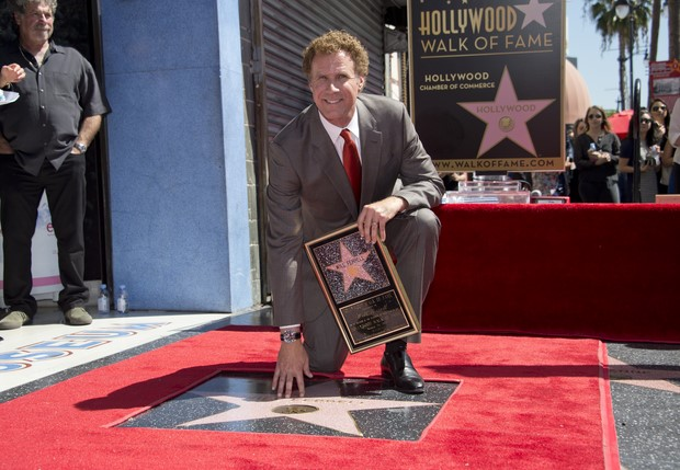 US-ENTERTAINMENT-HOLLYWOOD WALK OF FAME-FERRELL