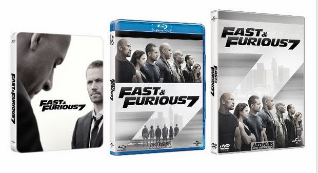 fast and furious 7 trailer e clip in italiano featurette blu ray foto poster. Black Bedroom Furniture Sets. Home Design Ideas