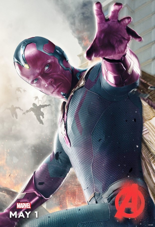 Avengers Age of Ultron - nuovo character poster con Vision (1)