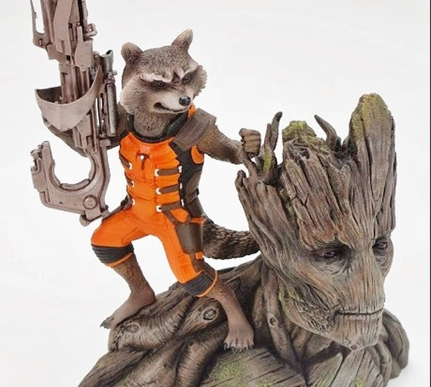 Guardians of the Galaxy le statue di Groot, Rocket Racoon e Star-Lord (5)