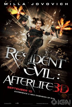 Nuovo trailer, spot tv e nuovo poster per Resident Evil: Afterlife 3D