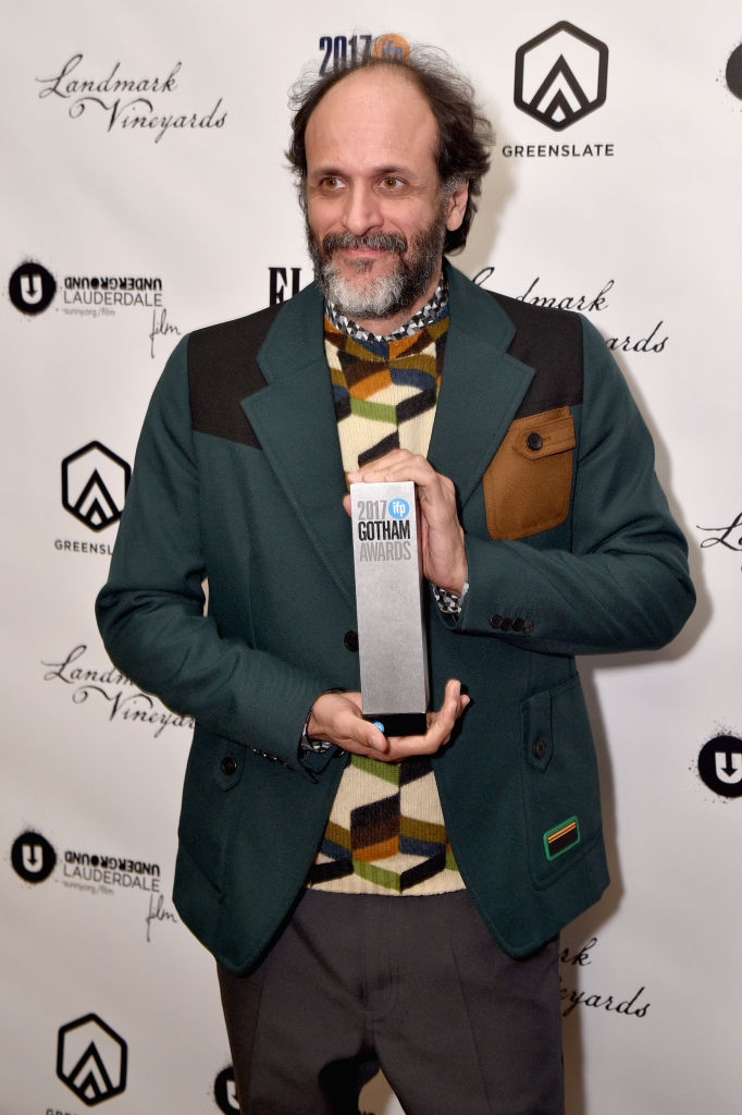 NEW YORK, NY - NOVEMBER 27:  Director Luca Guadagnino poses with the Best Feature Film award during The 2017 IFP Gotham Independent Film Awards co-sponsored by FIJI Water at Cipriani Wall Street on November 27, 2017 in New York City.  (Photo by Bryan Bedder/Getty Images for FIJI Water)