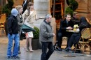 Angelina Jolie sul set di The Tourist a Parigi