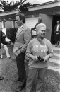 Bruna Odello of Carmel stands next to Mayorial candidate Clint Eastwood, 7 Apr 1986