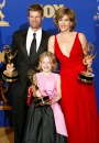 Dakota Fanning, Joel Gretsch e Catherine Dent, backstage 'Outstanding Miniseries' durante il 55th Annual Primetime Emmy Awards, 21 set 2003