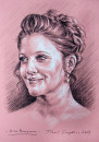 Drew Barrymore: ritratto a carboncino