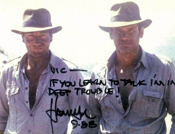 1. Vic Armstrong & Harrison Ford in Indiana Jones