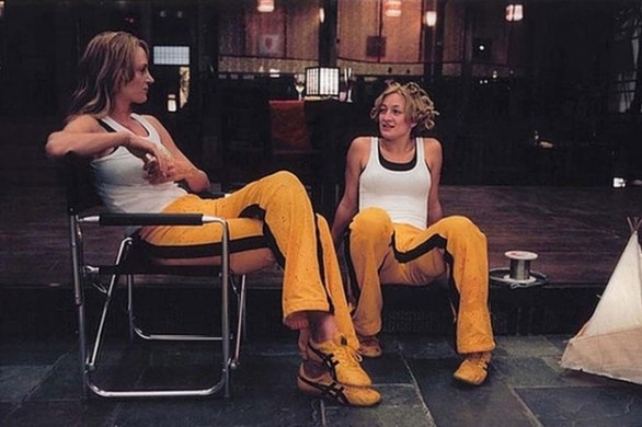 6. Uma Thurman & Zoe Bell in Kill Bill