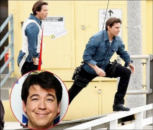 8. Michael McIntyre & Tom Cruise in Innocenti bugie (Knight & Day)