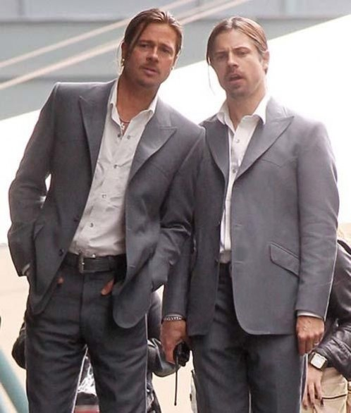 9. Brad Pitt & Phil Ball in World War Z