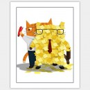 Movie Cat, The Office Poster © Brian Kirk