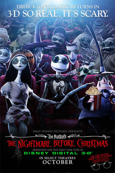 Nightmare Before Christmas poster 3d
