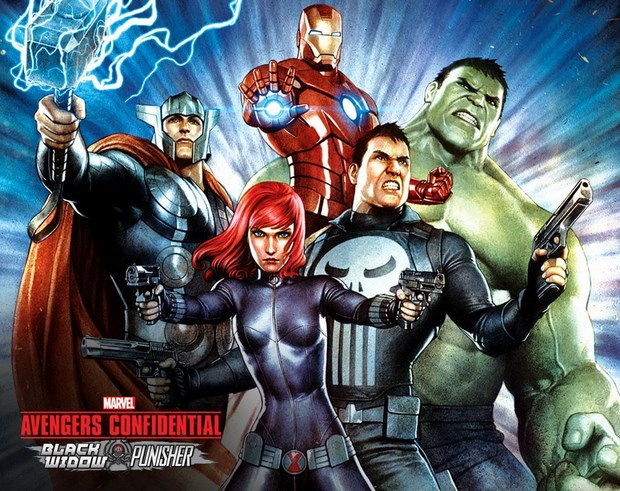 The Avengers Confidential: Black Widow and Punisher: poster del film d