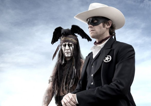 The Lone Ranger - prima foto di Johnny Depp and Armie Hammer sul set