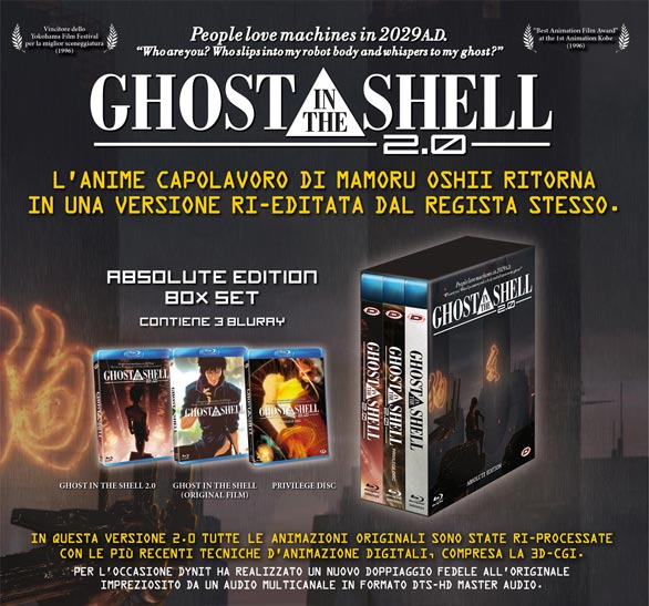 GHOST IN THE SHELL 2.0 - ABSOLUTE EDITION LIMITED BOX SET