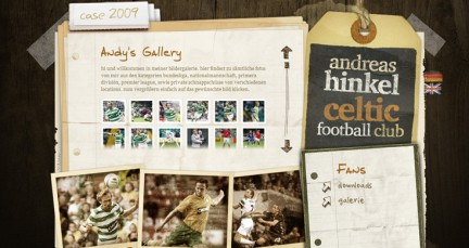 Andreas Hinkel, Celtic Football Club webdesign