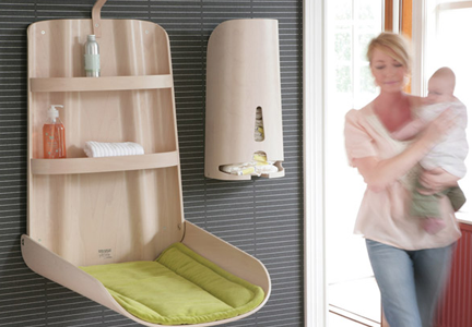 Wall-Mounted Changing Table by Bo Ekstrom