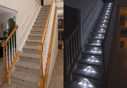 Stair lights le scale luminose - Led per scale ...
