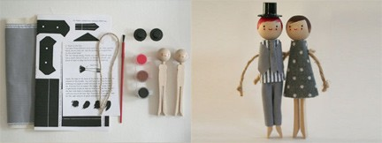 The clothespin doll kit