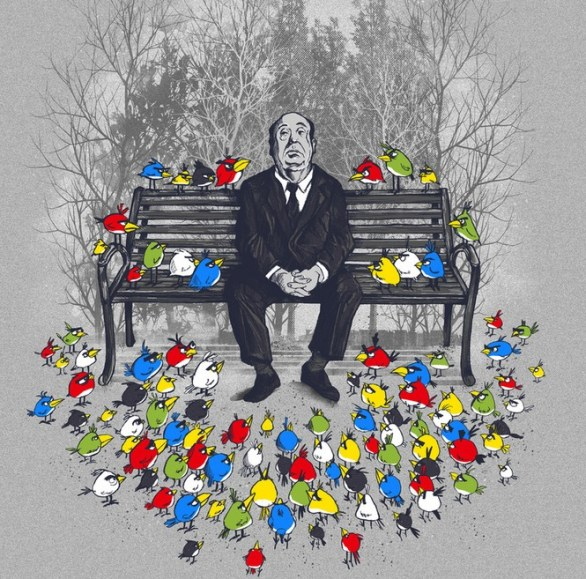 Alfred Hitchcock vs Angry Birds