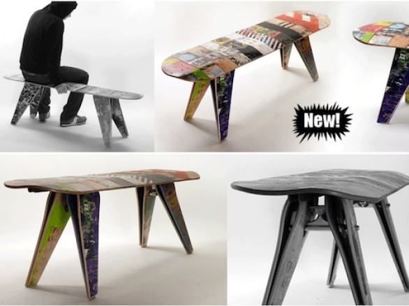 Arredi con skateboard by Deckstool
