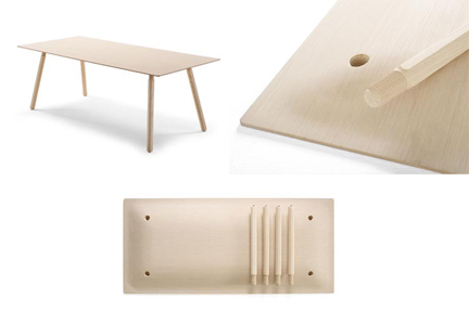 nomad table by by Jorre van Ast