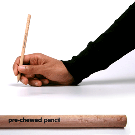 Pre- chewed pencils by concentrate