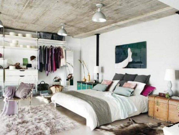 Interior design di un loft a Madrid