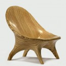 stack-laminated plywood lounge chairs