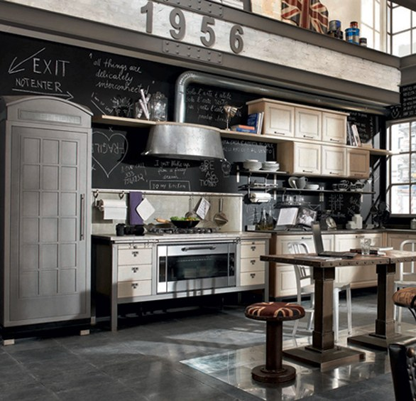 Da Marchi Group due cucine retrò: 1956, country-chic; e Loft ...