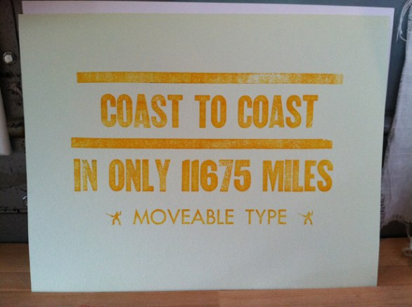 Moveable Type, la tipografia ambulante
