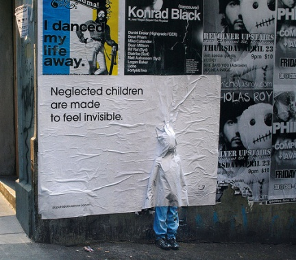 Neglected Children are made to feel invisible