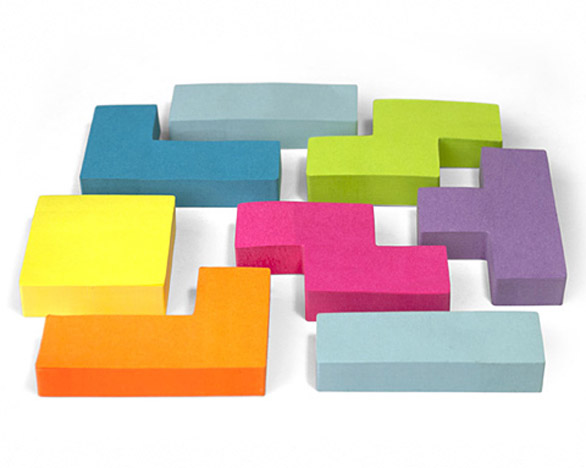 Sticky notes a forma di Tetris