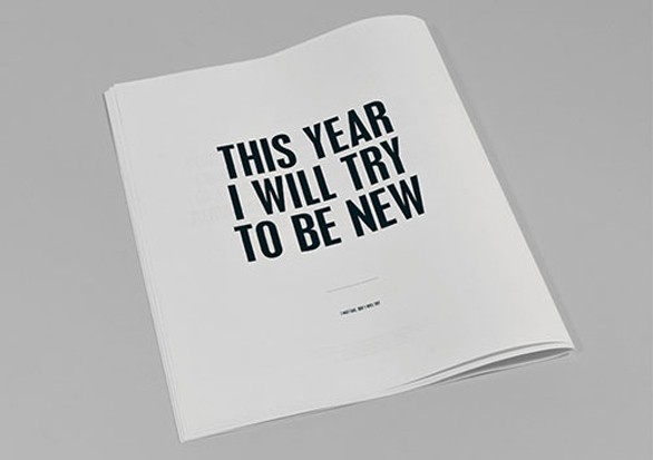 This Year I Will Try Not To...